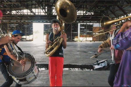 the brass machines picture from music video stop hiding