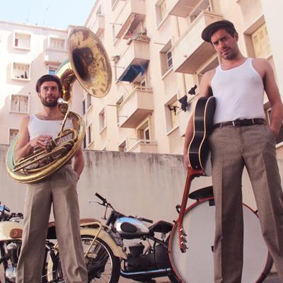 Les Frères Lapoisse Rock N Roll Folk two men band 60's