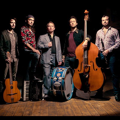 hot club de boukravie acoustic swing band